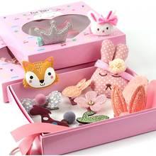 Conjunto con rizador de cabello de 24 piezas, accesorios para el cabello de dibujos animados bonitos, diadema para niña con lazo y flor, sombrero para animal, anillo elástico para el cabello