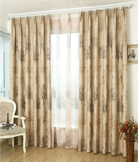 Wholesale Ready Made Curtains Custom Made Luxury Curtains For Living Room  Jacquardu0026Printed Blackout Double  Part 76