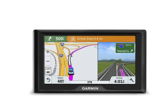 Garmin Drive 51 USA LMT-S <font><b>GPS</b></font> Navigator System with Lifetime Maps, Live Traffic and Live Parking, Driver Alerts, Direct Access,
