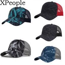 XPeople Womens Ponytail Messy High Buns Mesh Trucker Ponycaps Plain Baseball Cap Dad Hat Adjustable Size