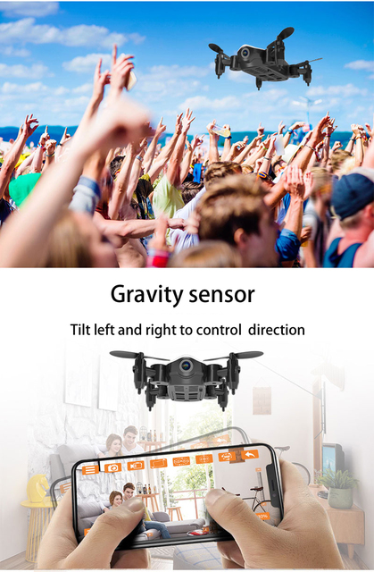 Teeggi T10 Mini Drone with Camera HD Foldable WiFi FPV RC Quadcopter Headless Mode Altitude Hold VS S9 Micro Pocket Selfie Dron 3