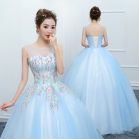 Plus Size Quinceanera Dresses 2019 Ball Gown Quinceanera Dress Blue Debutante Gowns Girls Prom Dress vestido de festa 15 anos
