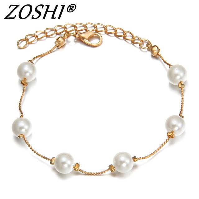 ZOSHI Charm Gold Silver Plated Bracelets & Bangle Fashion Simulated Pearl Beads Wedding Jewelry For Women Gift Wholesale Price