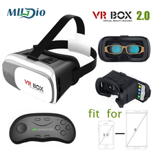 "Mlldio VR BOX 2.0 Virtual Reality Google Cardboard For 3.5 – 6.0"" phone Iphone/Xiaomi vr heaset 3D Glasses with gamepad"