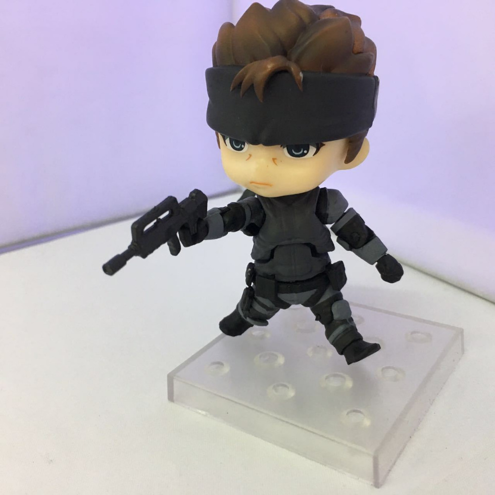 10CM pvc Japanese anime figure New Nendoroid 447 METAL GEAR SOLID Solid Snakeaction collectible model toys brinquedos