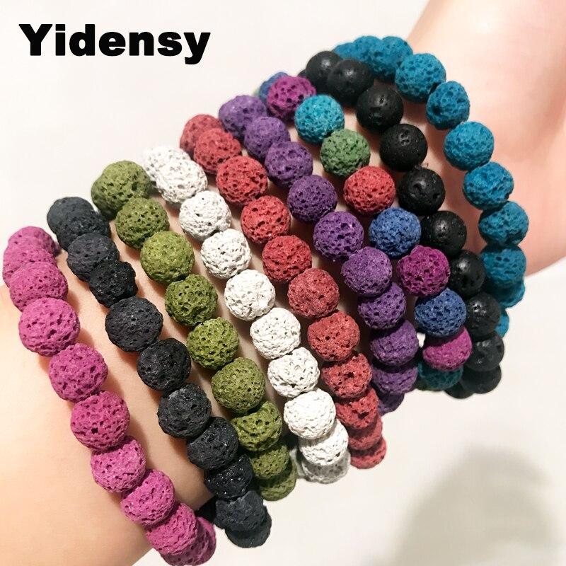 Fashion 8mm Colourful Natural Spots Beaded Gemstone Yoga Energy Reiki Bracelets