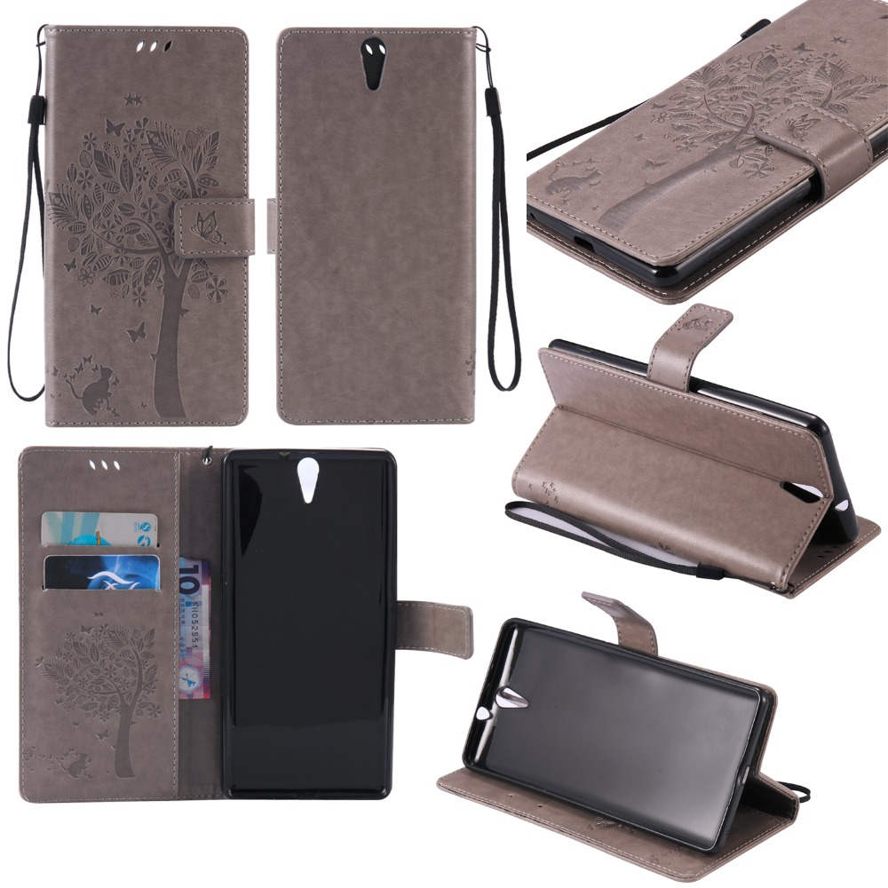 Fundas Flip Case For Sony Xperia C5 Ultra Dual E5533 PU Leather + Silicon Wallet Cover For Sony C5 Ultra E5553 Phone Cases Capa