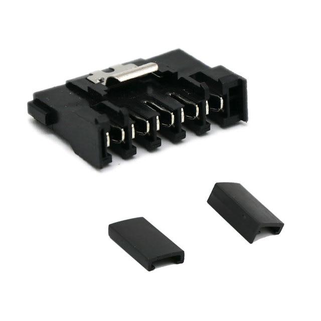 Angitu 10pcs/lot Crimp SATA 15Pin Female Power Connector With Metal Lock end cap