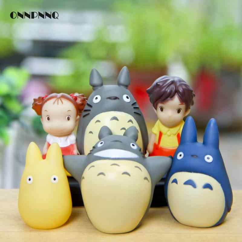 1pcs Totoro Xiaomei Puppet  Miniature Gift Kawaii Cartoon Animal Kids Toys Terrarium Figurines Desktop Decoration Doll Accessori