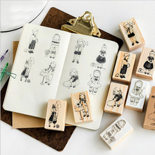 Cute little series wooden rubber stamps for scrapbooking stationery DIY scrapbooking  wooden stamp 25pcs set diary pattern wooden box stamp rubber lovely cute diy writing scrapbooking stamp gift clear stamps for scrapbooking
