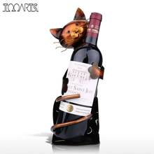 TOOARTS Cat Wine Rack Wine Holder Shelf Metal Practical Sculpture Wine stand Home Decoration Interior Crafts Christmas Gift(China)