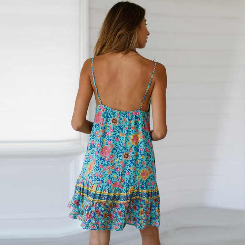 Женское сексуальное платье с цветочным принтом женское летнее мини-платье без рукавов женское повседневное плиссированное платье трапециевидной формы