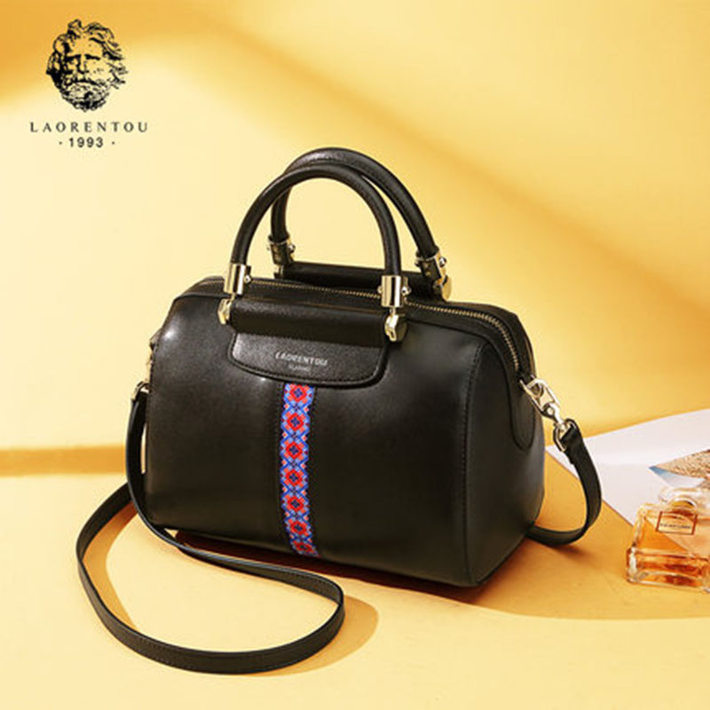 LAORENTOU Cowhide Leather Hnadbags Women Shoulder Bag Luxury Valentine's Day Gift Women's Bags Crossbody Bags Casual Women Tote