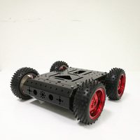 DOIT 4WD Smart RC Car Chassis Car Model Kids Car with 12V High Power Motor, 85mm Rubber Wheel for Arduino DIY Toy Parts