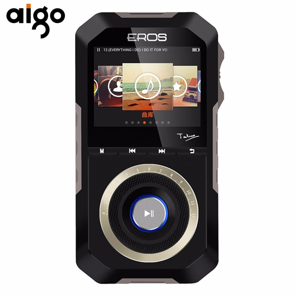 Aigo MP3 Player Metal Case Android System 16GB MP3 Player HiFi Enthusiast Lossless Music Wheel Controlled Turntable MP3 Player 2016 new style mini mp3 player sport hifi lossless music player 16gb hot sales for mobile phone pc tablet