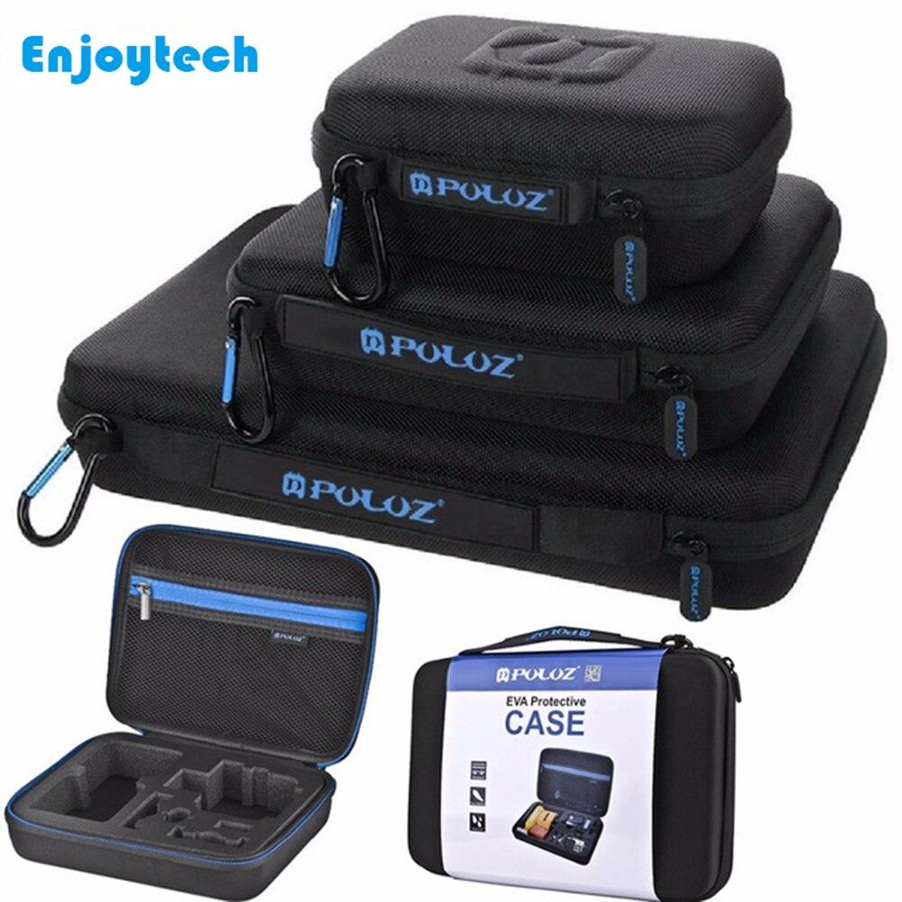 EVA Coleta Box Para Gopro Acessórios Kits Sacos de Armazenamento Caixa De Proteção À Prova D' Água para a Gopro Hero 3 4 5 6 7 câmeras Sjcam Yi