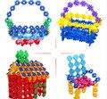 100 Шт./пакет Снежинка Сборка Строительные Блоки Ребенок Пластиковые Многоцветный Обучающие Игрушки