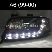 For Audi A6 LED head lamp 1997 2000 year Black Housing SN