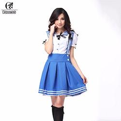 ROLECOS-New-Arrival-Women-Cosplay-Costumes-3-Color-Kawaii-School-Girl-Uniform-Sailor-Suit-Top-Skirt