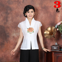 Chinese Shirt Women's Satin Tops