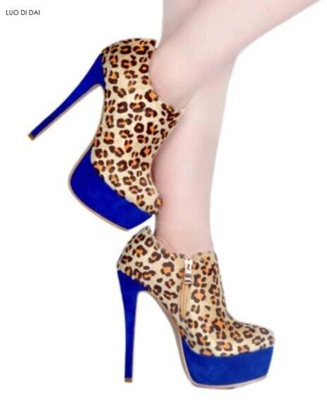 Pic Signore Sottile Leopardo Toe Sexy Gladiatore Point Del Delle Partito Donne Della Zip Pattini Stivali Stivaletti Piattaforma Up Tallone 2019 Caviglia As z1fOqw