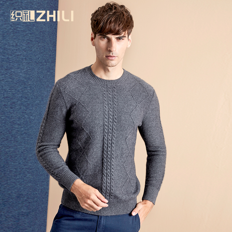 High Grade Men Sweater 2017 New 100% Cashmere Pullovers Winter Warm Jumper O Neck Noble Fashion Clothes Standard Tops For Male