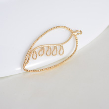 6pc 39x18mm 24K Gold Plated Brass Champagne Color Charms Pendants Hummingbird Connect High Quality Diy Jewelry Accessories