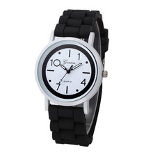 Superior Women Watches relogio Geneva Roman Numerals Silicone Jelly Gel Quartz Analog Watch relogio feminino Dorp Shipping