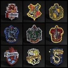 Новые магические значки-патчи для одежды, железные наклейки Ravenclaw Gryffindor Slytherin Hufflepuff Diy