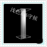 Hot selling/Clear Square Stable Lucite/Acrylic Lectern for Multimedia Teaching-in Empfangstresen aus Möbel bei