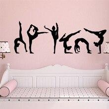 Diy dancing yoga Wall Sticker Self Adhesive Vinyl Waterproof Wall Art Decal Nursery Kids Room Wall Decor Removable Mural diy cactus wall sticker self adhesive vinyl waterproof wall art decal nursery room decor wall art sticker murals