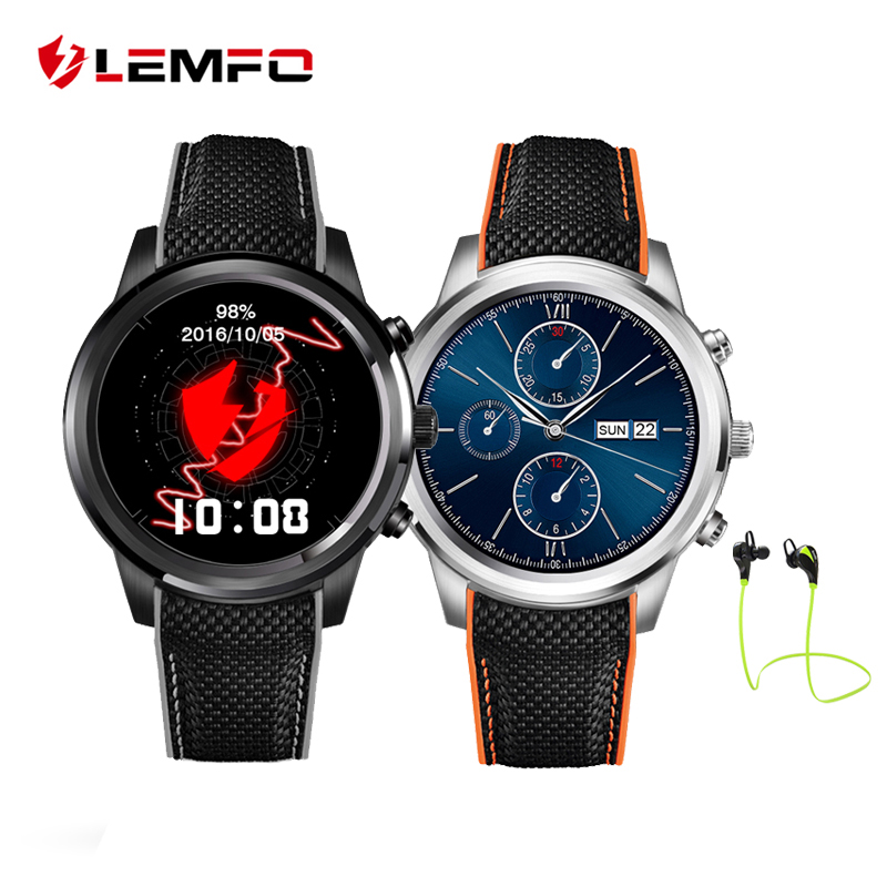LEMFO LEM5 Smart Watch Phone Android 5.1 OS MTK6850 1GB+8GB Reloj Inteligente Support GPS WiFi Smartwatch For Android IOS dm365 lemfo smartwatch reloj inteligente android ios bluetooth waterproof watches blood pressure hd recording sync call watch