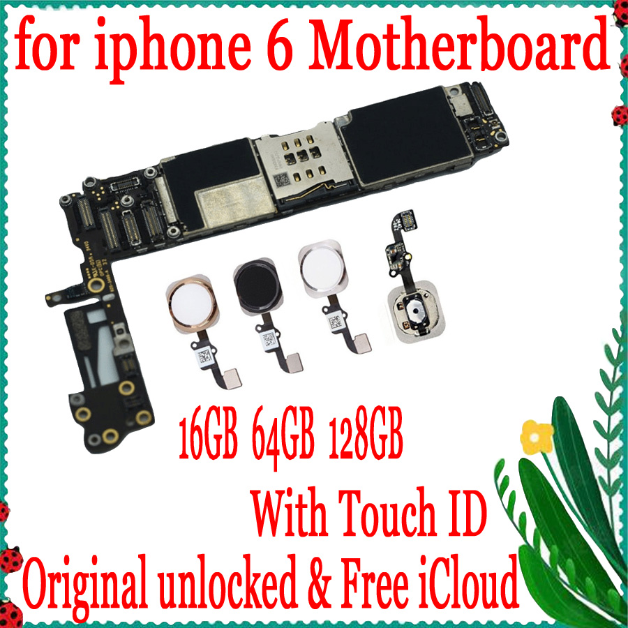 16GB 64GB 128GB Factory unlocked for iphone 6 Motherboard With Touch ID / without Touch ID,100% Original for iphone 6 Mainboard16GB 64GB 128GB Factory unlocked for iphone 6 Motherboard With Touch ID / without Touch ID,100% Original for iphone 6 Mainboard