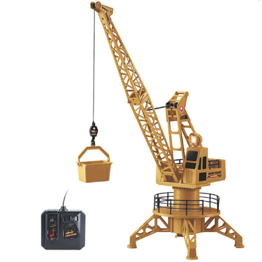 Rc Remote Control Simulation Crane Construction Toys Rc Crane Tower Rc Truck Model Toys 360 Degree Rotate Birthday Gifts