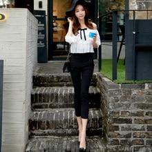 Original 2016 Brand Autumn Combinaison Femme Women's Plus Size Open Shoulder Slim Elegant Ruffled Jumpsuit Wholesale