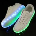 Nueva LED Iluminado Luz Zapatos de Los Hombres Zapatos Casuales Blancos Zapatos Para Adultos Zapatos Luminosos krasovki LED entrenadores de Moda de San Valentín