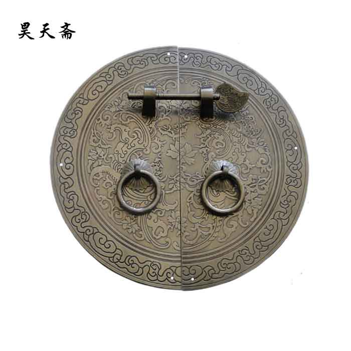 [Haotian vegetarian] Ming and Qing furniture copper fittings / wardrobe handle / Phoenix circular handle HTB-095 [haotian vegetarian] ming and qing furniture antique copper fittings copper handle htb 009 18cm