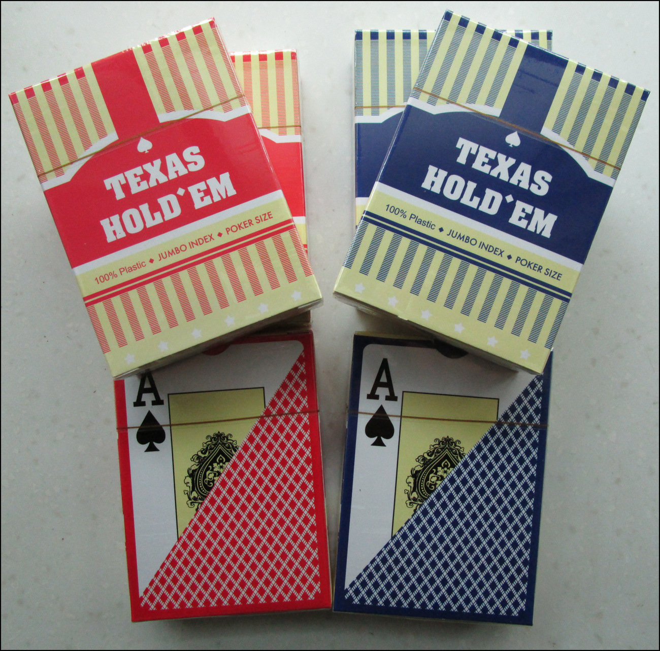 1Pcs Classic porker card set Texas poker cards Plastic playing cards Waterproof pokerstars zakka Board games 63*88mm