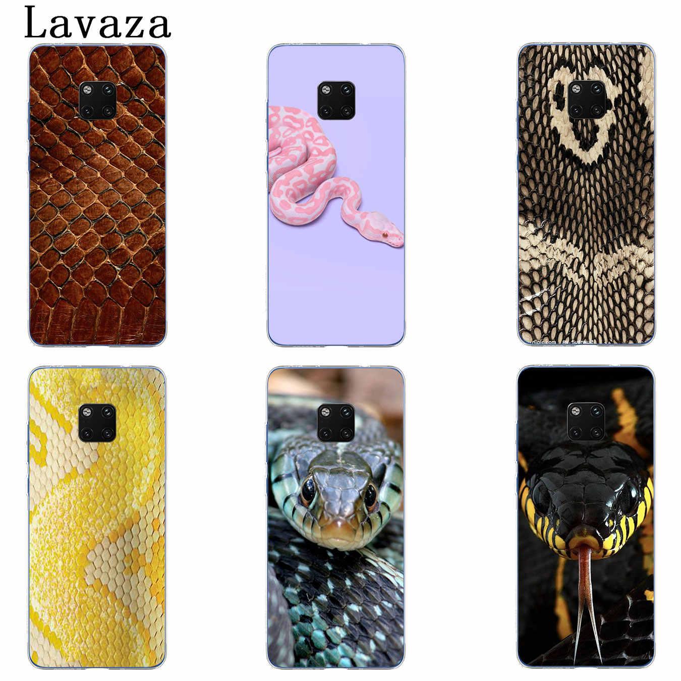 Розовый кожаный чехол для телефона Lavaza со змеиным чешуей для Huawei Mate 30 20 Pro 10 Lite Y6 Prime Nova 5I 4 3i 3 2i 2 Lite