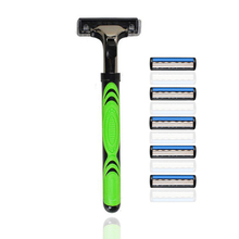 Man Razor Handle & 5PCS Blade for Shaving Razor Epilator Best Manual Shaving Machine Canfill KL-6205
