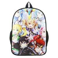 15 Inch Anime Sword Art Online Backpack For Teenagers Boys Girls School Bags Travel Bag Children