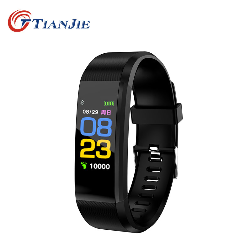 TIANJE 115Plus water proof pedometer Call message reminder heart rate sleep monitor smart bracelet wristband PK mi band 3