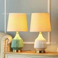 Tuda envío gratis del estilo de país de América lámpara de mesa de cerámica verde lámpara de mesa de salón lámpara de mesa