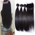 Malaysian Remi Hair Virgin Straight With Closures Malaysian Straight Human Hair With Closure Malaysian Virgin Hair With Closure