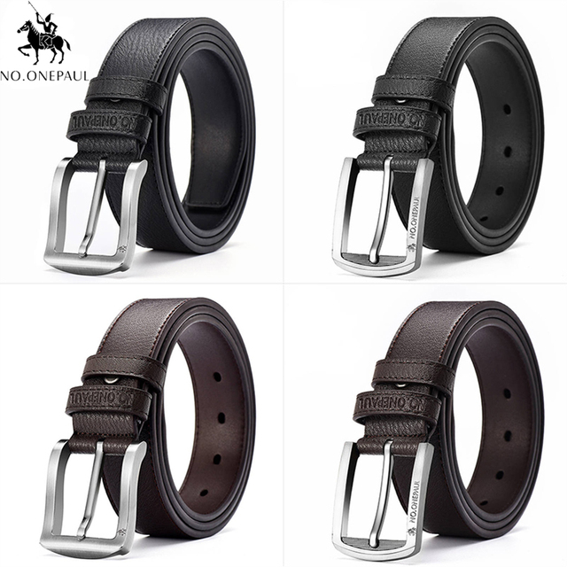 NO. ONEPAUL Cow Genuine Leather Luxury Strap Male Belts 4
