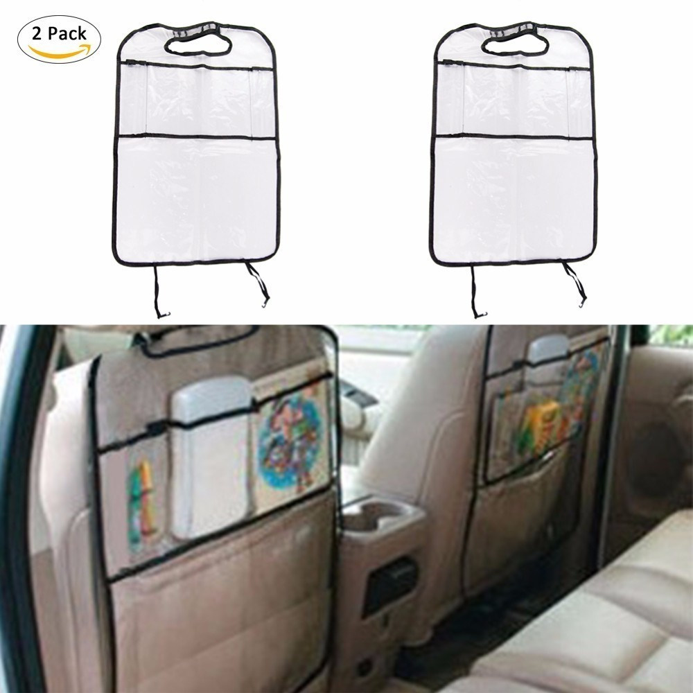 2 PCS Waterproof Protection Car Children Seat Anti-Kick Seat Back Covers Stain-Resistant Protection From Dirt Mud Scratches