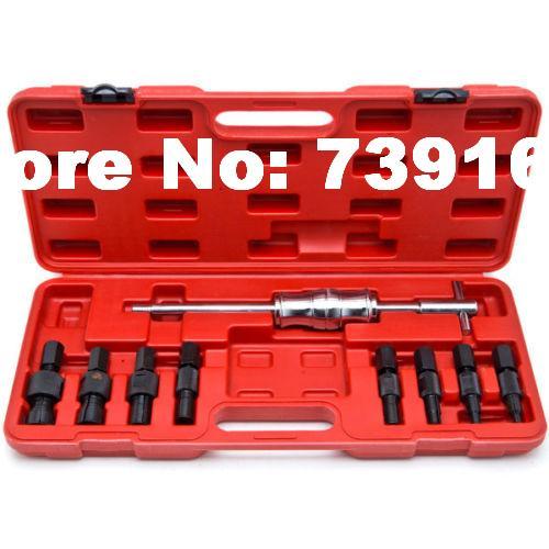 9PCS Car Blind Hole Pilot Bearing Puller Tool W/Slide Hammer Internal Extractor Remover Auto Repair Garage Tools ST0010 цена