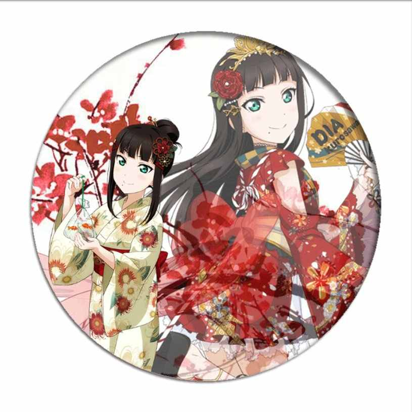 Cinta Hidup Sunshine Cosplay Lencana Takami Chika Bros Pin Love Live Riko Koleksi Kurosawa Ruby Breastpin Lencana untuk Ransel