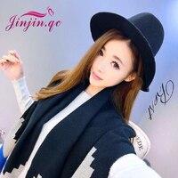 Jinjin QC 2016 Fashion Long Women Scarves Winter Stole Pashmina Wool Cashmere Scarf Geometric Super