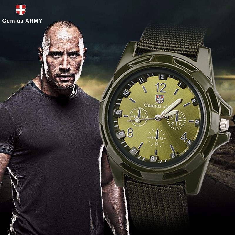 Hot Sale Military Watch Men Gemius Army Men's Watch Men Sport Watch Nylon Band Male Clock Reloj Hombre Relogio Masculino